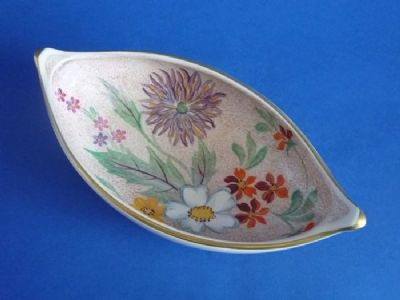 Vintage Gray's Pottery Floral Pattern A7574 Art Deco Dish c1940